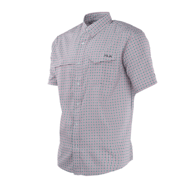 Huk Tide Point Plaid Short Sleeve Shirt