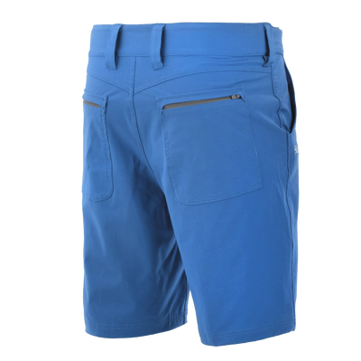 "Performance Fishing Shorts - Huk Next Level Shorts - 10.5"" Inseam - Back Pockets - Dark Blue"