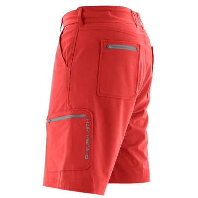 "Performance Fishing Shorts - Huk Next Level Shorts - 10.5"" Inseam - Side View"