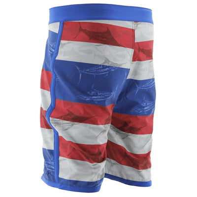Huk KC Scott Blue Marlin USA Boardshort