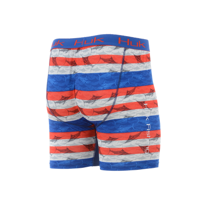 Huk KC Scott Blue Marlin USA Performance Boxer Jock