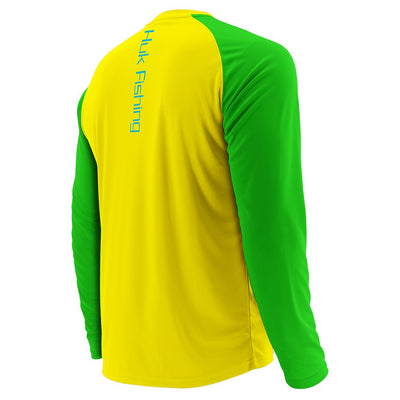 Huk Youth Performance Color Block Long Sleeve