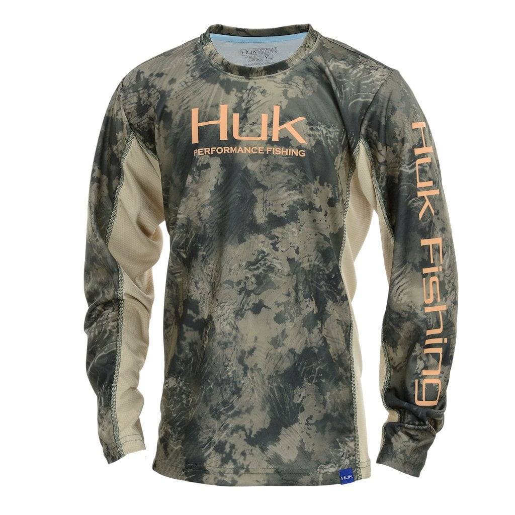 15a0035e97a Huk Youth ICON X Camo Long Sleeve Shirt - Huk Gear