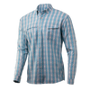 Huk Tide Point Fish Plaid Long Sleeve
