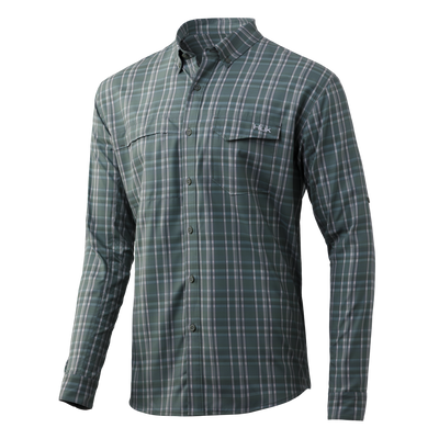 Huk Tide Point Plaid Long Sleeve
