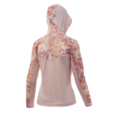 Huk Womens Current Camo Icon X Hoodie
