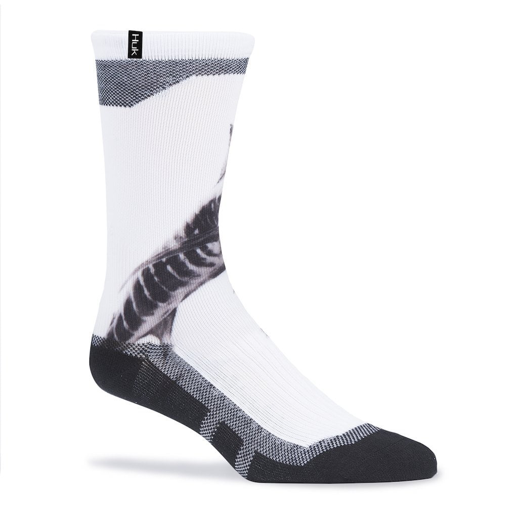 Huk KC Scott White Pitch Swordfish Crew Sock