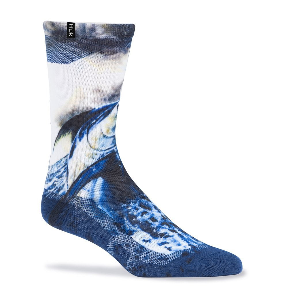 Huk KC Scott Blue Storm Crew Sock
