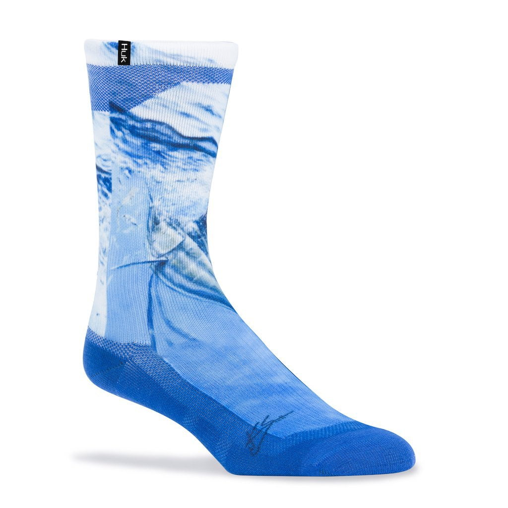 Huk KC Scott Rising Sail Blue Crew Sock