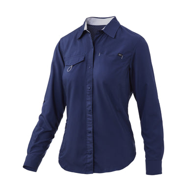 Huk Womens Salty Fishing Shirt
