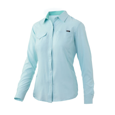 Huk Womens Salty Long Sleeve Fishing Shirt