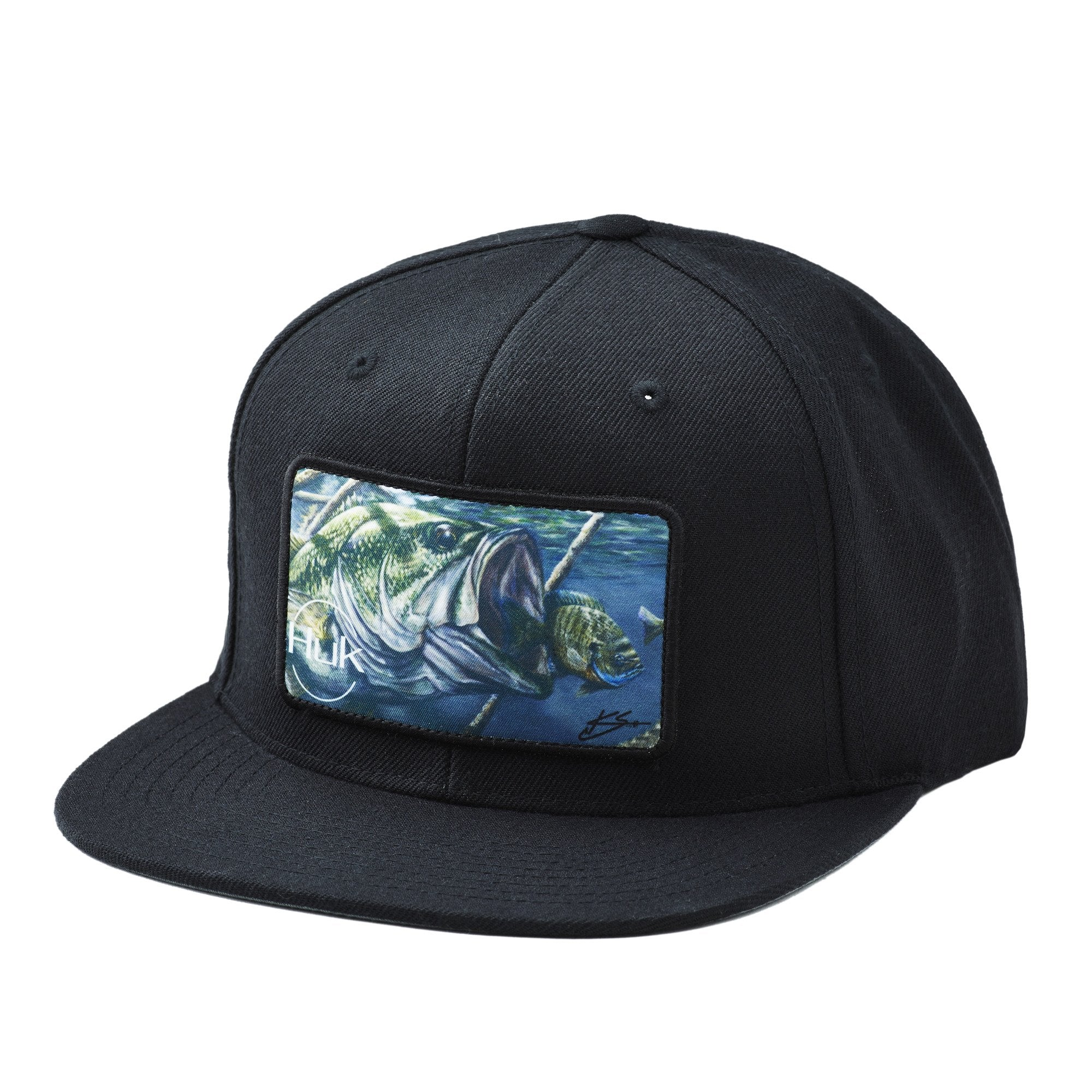 Huk Bass And Blue Flat Bill Trucker