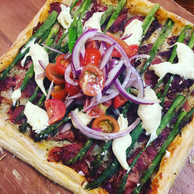 Ham & Asparagus Tart with Hollandaise