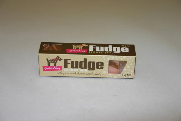 Spotted Dog Fudge Raspberry Swirl 95gm