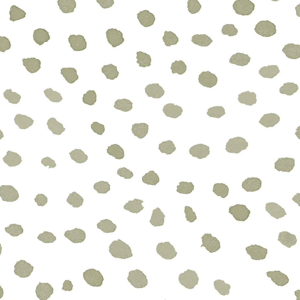 Scallop Dots Wallpaper. Moss