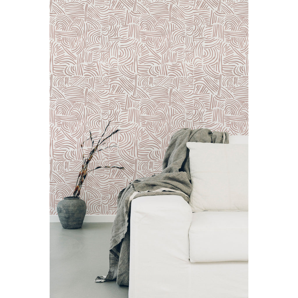 Tulum Wallpaper. Shell Pink