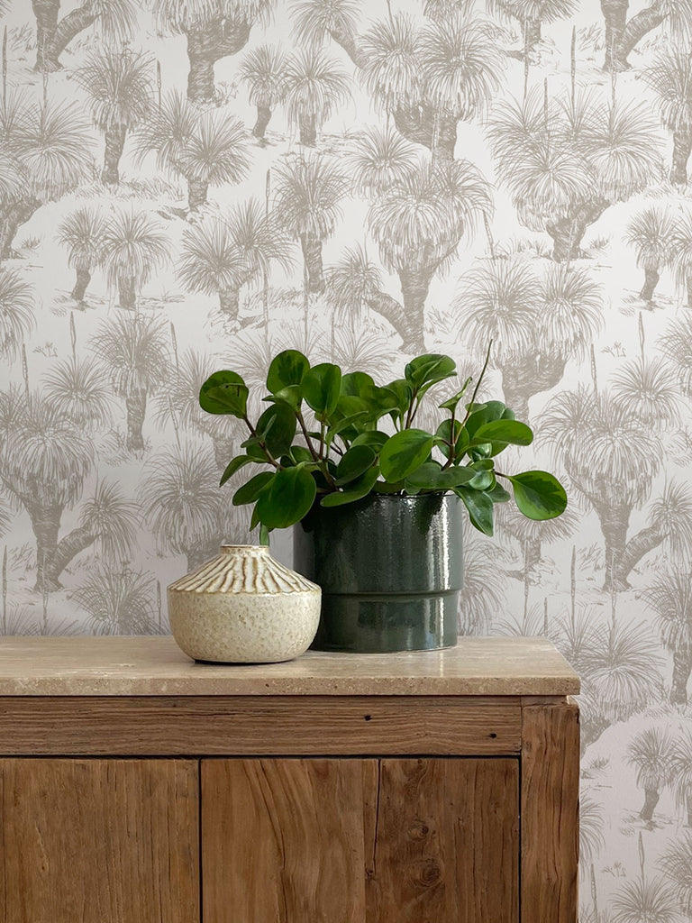 Grasstree Wallpaper. Linen