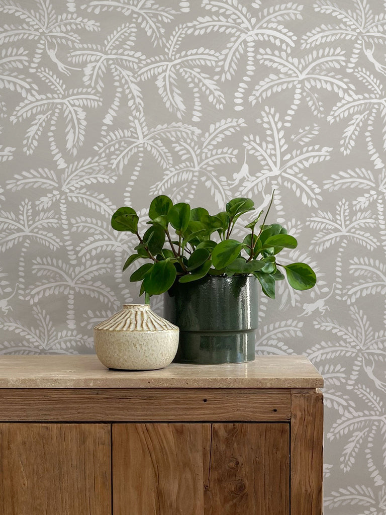 Palmy Wallpaper. Linen