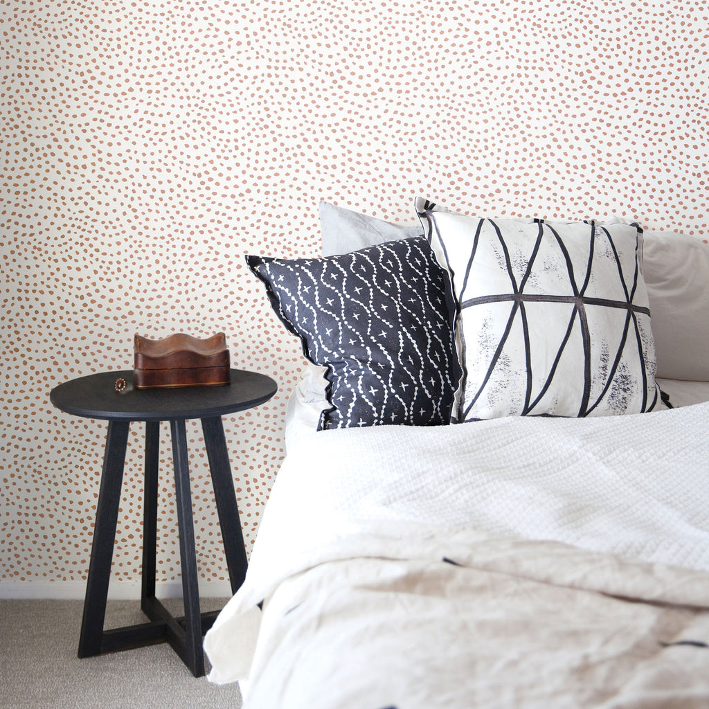 Scallop Dots Wallpaper. Musk