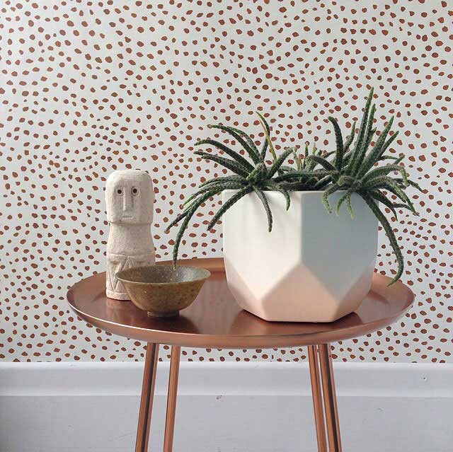 Scallop Dots Wallpaper. Rust
