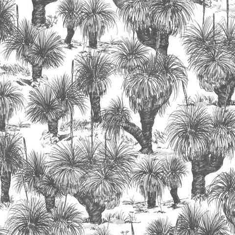 Grasstree Wallpaper. Charcoal