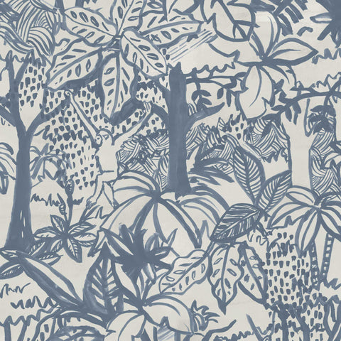 Jungle Wallpaper. Blue