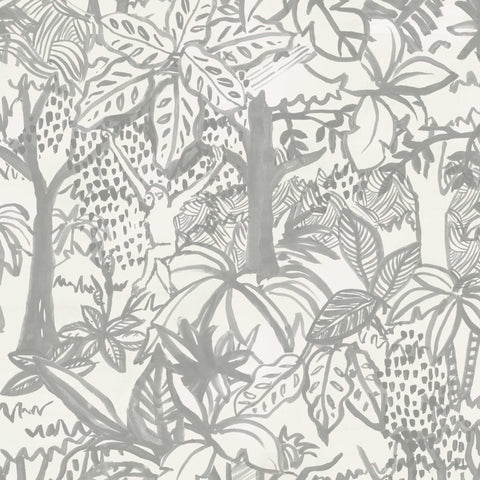 Jungle Wallpaper. Grey