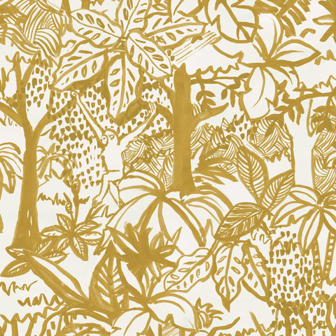 Jungle Wallpaper. Mustard