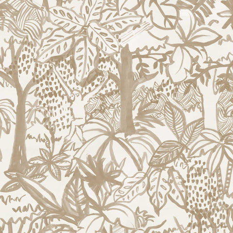 Jungle Wallpaper. Tan