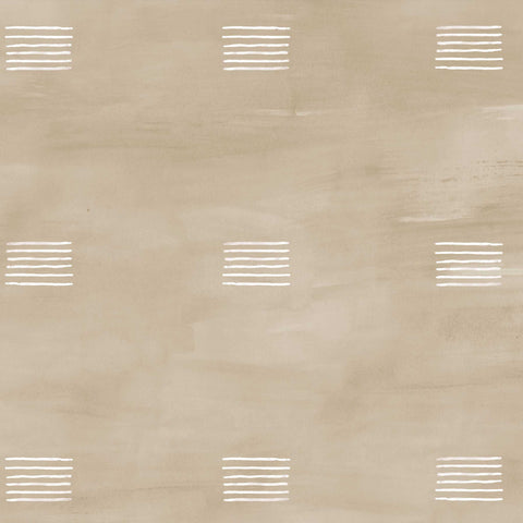 Otto Wallpaper. White on Camel