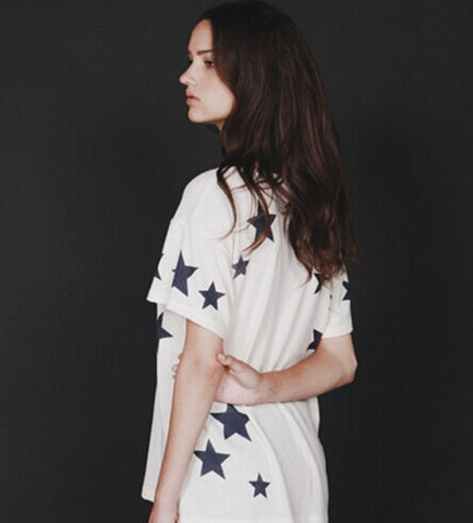 Hye Park and Lune Stella Short Sleeve White/Navy