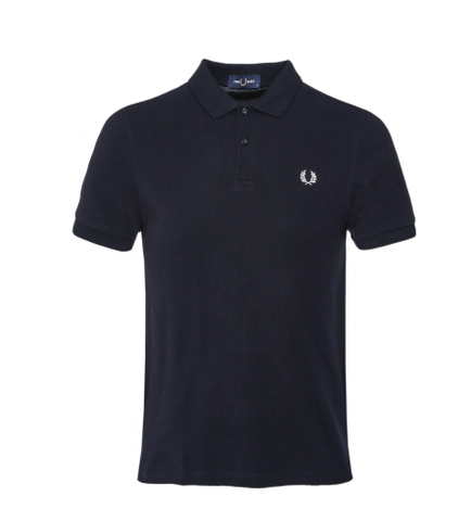 Fred Perry Plain Polo Shirt Black