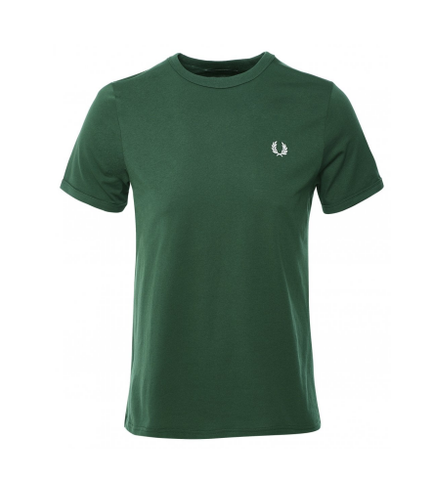 Fred Perry Men's Crew Neck Ringer T-shirt Green