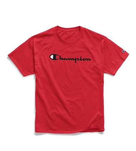 Champion Men's Graphic Jersey Tee Script Logo Team Red Scarlet