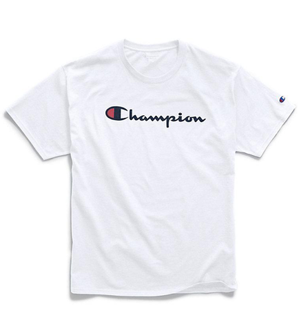 Champion Men's Graphic Jersey Tee Script Logo Team White