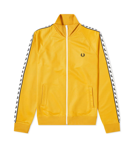 Fred Perry Authentic Taped Track Jacket Gold