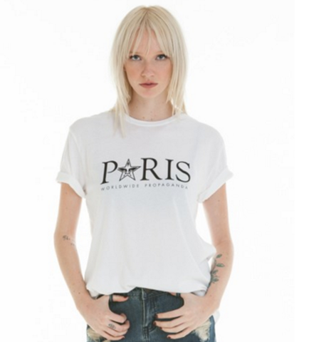 OBEY TIME ZONES PARIS CLASSIC CREW TEE