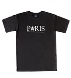 OBEY TIME ZONE-PARIS BASIC TEE - BLACK