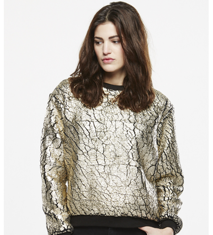 ELEVEN PARIS PADORE Gold Sweater