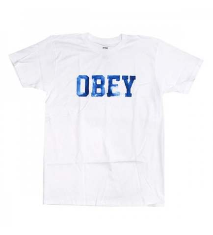 OBEY COLLEGIATE WATERCOLOR PREMIUM BASIC TEES