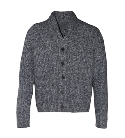 SCHOTT NYC Men's Shawl Cardigan SW1504 Heather Grey