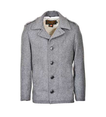 SCHOTT NYC M41 field coat in 24oz wool 798 Oxford Grey