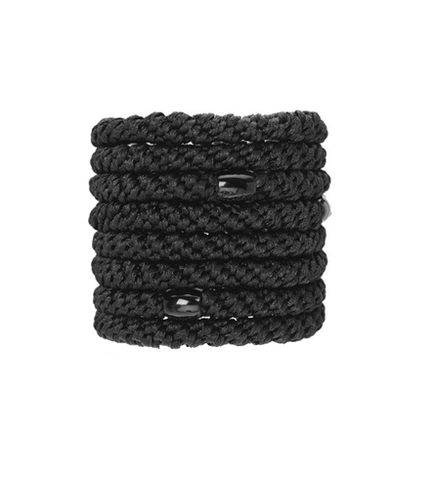 L. Erickson Ponytail Holders - Set of Eight- Black