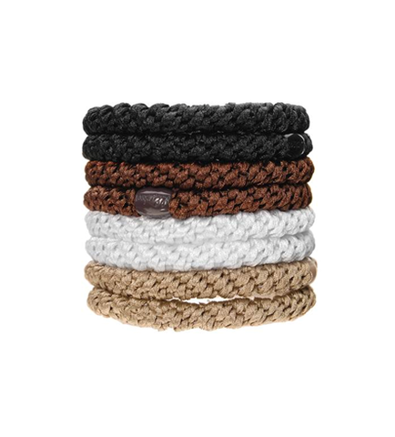 L. Erickson Ponytail Holders - Set of Eight- Neutral