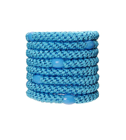 L. Erickson Ponytail Holders - Set of Eight- Sky Blue