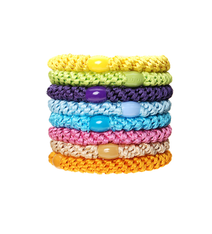 L. Erickson Ponytail Holders - Set of Eight- Summer
