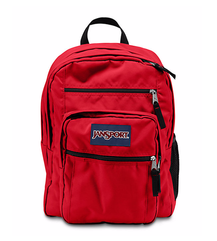 JANSPORT BIG STUDENT BACKPACK HIGH RISK RED