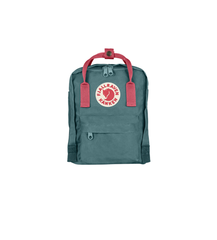 FJALLRAVEN KANKEN MINI BACKPACK STYLE F23561 FROST GREEN-PEACH PINK