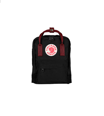 Fjallraven Kanken Mini Black-Ox Red Style F23561