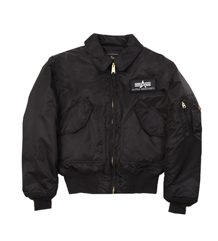 Alpha Industries CWU-45P Nylon Flight Jacket Black